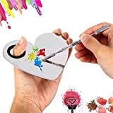 NEW Heart Shape Makeup Palette Spatula Fashion Stainless Steel Pallet Makeup Artist Tools for Blending Cosmetic Foundation Shades Kit