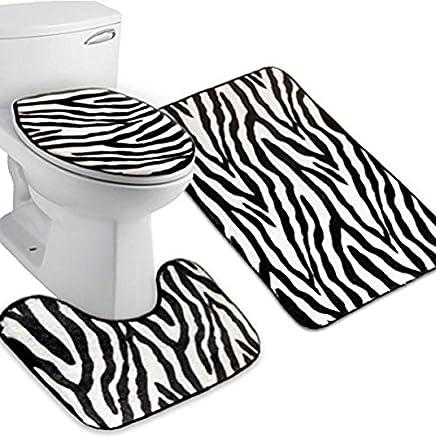 maschinenwaschbar Metallhaltring WC-Sitzbezug super warmes Fleece universell passend WC-Deckelbezug