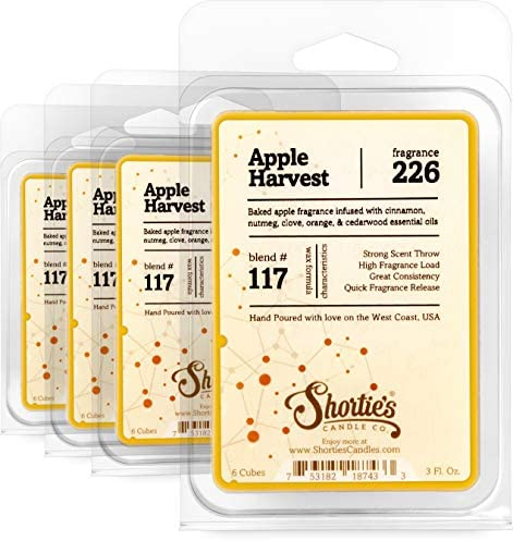 Lasts Longer Caramel Apple Spice Scented Wax Tart Hot Cider Latte Premium Fragrance is  Stronger SIX 1 Vegan Soy Cubes