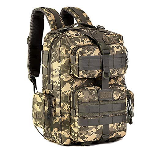 ASPZQ 30 Liters Patrol Backpack Outdoor Backpack Hiking Bag Travel Bag Riding Backpack Camouflage Bag,D