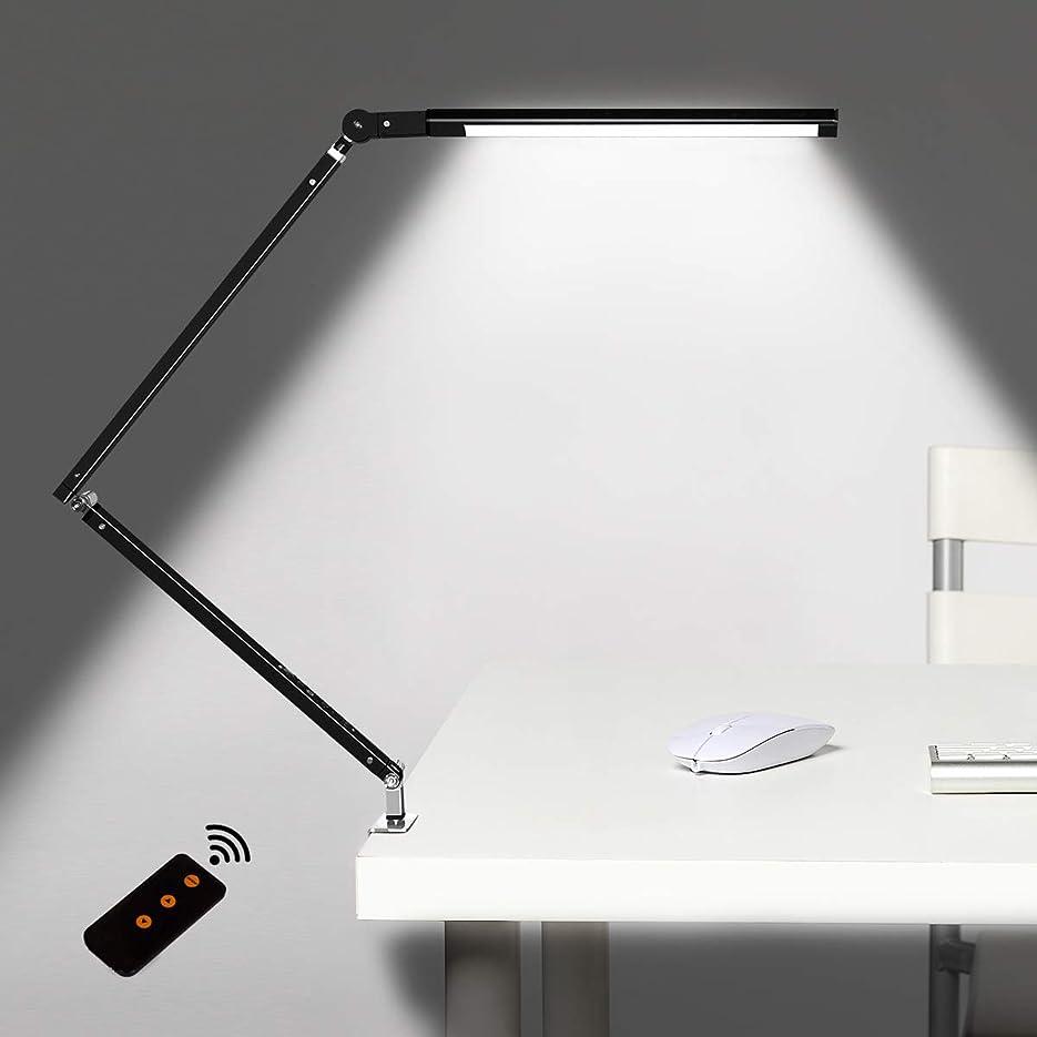 裸抵抗力がある便益デスクライト デスクスタンド 電気スタンド 読書灯 クリップライト LED?学習?勉強 無段階調光/折り畳み式 省エネ 目に優しい… (ブラック, 三色)