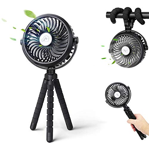 携帯扇風機 USB扇風機 Focondot 小型 卓上扇風機 卓上・吊り下げ・手持ち・巻き付け 4in1機能 720°角度調節 LEDライト付き ミニ扇風機 usb充電式 2500mAh大容量 低騒音 手持ち扇風機 寝室/車内/オフィス/アウトドアなど適用 持ち運びに便利