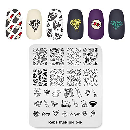 Nail Stamping Plate Fashion Diamond Rich Luxury Lipstick Make Up Theme Multi-Pattern Stamp Print Image Stamp Template Nail Art for Nail Design By Rolabling