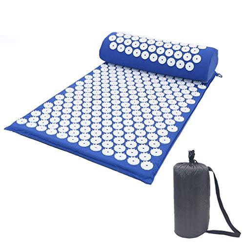 Massager Kussen Acupunctuur Sets Neutraal Stress Rugpijn Acupressuur Mat / Kussen Massage ABS Spike Yoga Kussen Blauw