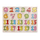 TOYMYTOY - Puzzle de madera con números para niños
