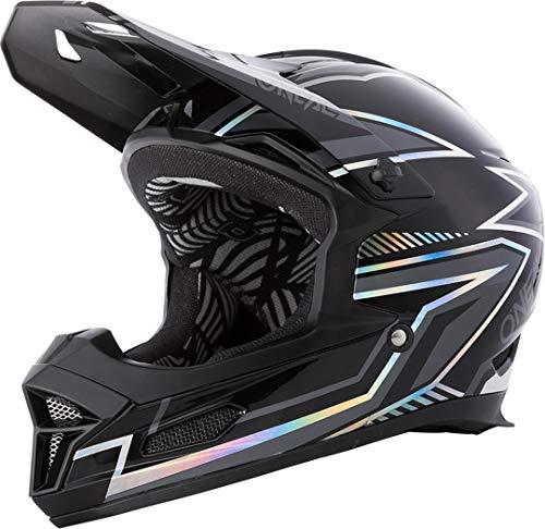 O'NEAL | Mountainbike-Helm | MTB Downhill | Nach Sicherheitsnorm EN1078, Ventilationsöffnungen für Luftstrom & Kühlung, ABS Außenschale | Fury Helmet Rapid | Erwachsene | Schwarz | Größe M