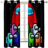 Cortinas Impresas En 3D De Dibujos Animados Sombreado Aislamiento Térmico Perforaciones Cortinas Flotantes Fáciles De Instalar Adecuadas para Dormitorio Sala De Estar Balcón
