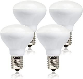 Haian R14 LED Bulb E17 Intermediate Base Mini Reflector,4 Watt 280 Lumens,25 Watt Incandescent Equivalent,R14 E17 LED Light Bulb Non-dimmable 6500K Cool White (4 Pack)