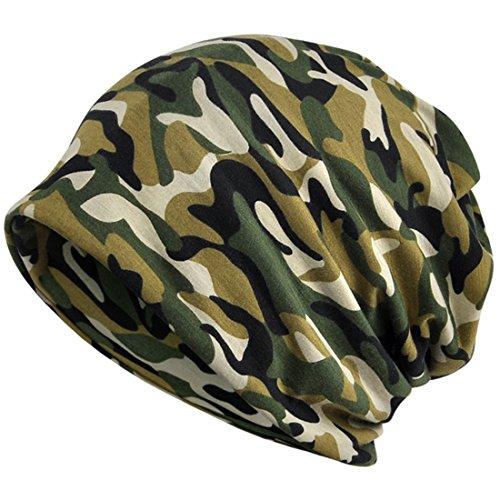 KUYOU Damen Multifunktionstuch Camouflage Hut Totenkopf Kappe Schal - Gr�n -...