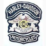 Generico Set 3 Toppe Patch Grandi Aquila Hog Harley Davidson + Roker HD + Motorcycles