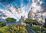 LIXB Rompecabezas para Adultos 1000 Piezas,Adecuado para educación Familiar, desafío psicológico para niños, el Castillo en la Cima de la montaña