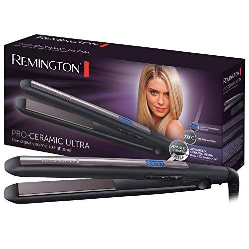 Remington Glätteisen Pro-Ceramic Ultra (hochwertige Ultra-Keramikbeschichtung) LCD-Display, 150-230°C, Haarglätter S5505