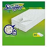 Swiffer Mopa para Suelos Secos (216 toallitas), Ideal contra el Polvo, el Pelo de Animales y los alrgenos (6 x 36)