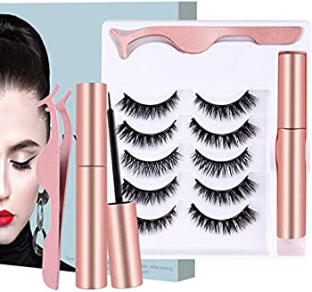 Opiqcey 5 Pairs of Natural Soft False Eyelashes