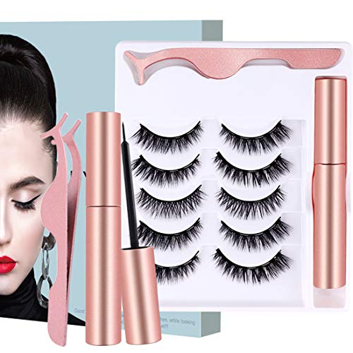 (30% OFF Deal) Magnetic Eyelashes No Glue Needed 5 Pairs $6.99