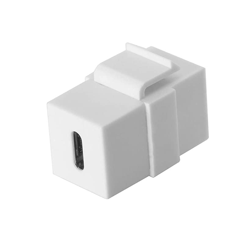 USB-C Type-C Female to Female Extension Keystone Jack Coupler Adapter for Wall Plate Panel