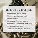 Aged Black Garlic Capsules - Garlic Pills for Cholesterol Support - Less Odor - Potent Antioxidant - 60 Capsules - Allium Sativum Supplement - More Effective Than Allicin #1