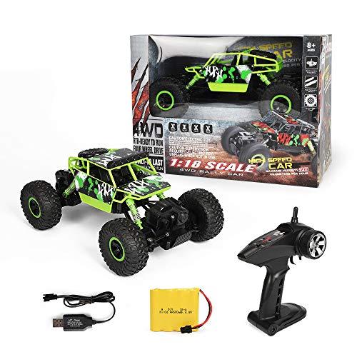Meteor fire Coche teledirigido RC Cars Stunt Car Toy, 2.4G RC Climbing Car Monster Truck Alta Velocidad Control Remoto Coche Juguetes, para Regalos de cumpleaños Niños Niñas Adultos,1