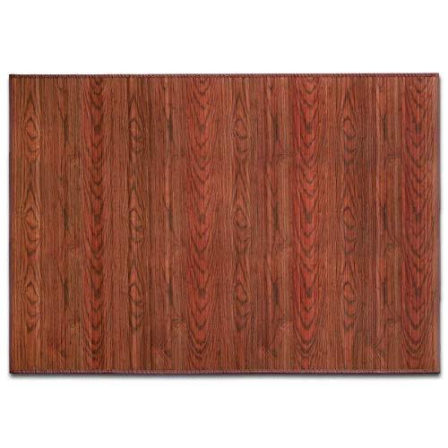 casa pura Alfombras Salon Bambu - Alfombra Madera Bambú | Magenta | Estera de bambú Antideslizante | 2 Colores, Varios tamaños (Marrón, 120x180 cm)