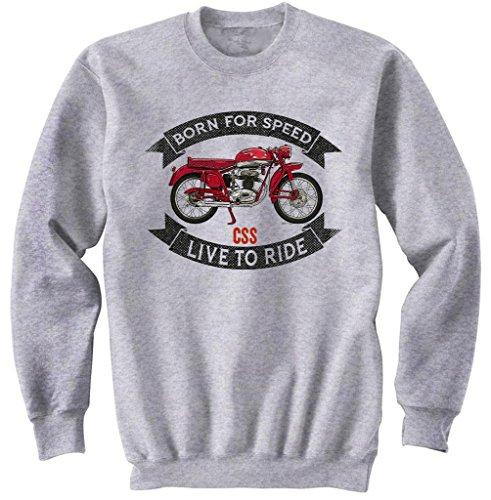 teesandengines Men's MV Agusta CSS Disco Volante Grey Sweatshirt Size Large