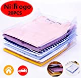 Nifogo Organizador de Camisetas, Ropa, Armario,Camiseta Carpeta,Resistente y Reciclable. Antihumedad y Antiarrugas,Tamaño Normal (20 pack)
