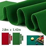 SQER Billard Nappe de table en nylon avec coussin, bande de tissu extensible et sans boulochage pour intérieur et jeu de sport
