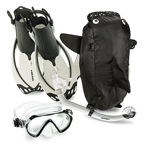 HEAD by Mares Junior Watersport Kids Mask Fin Snorkel Set with Jr Snorkeling Gear Bag