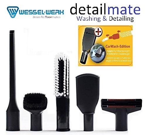 Wessel Werk Autopflege Düsen Set Car Wash Adapter für Tankstellen/SB Waschboxen Sauger detailmate