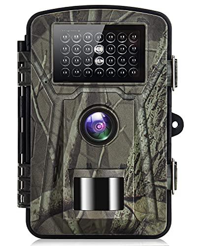 SUNTEKCAM Cámara de Caza 36MP 1520P HD Cámara de Caza Nocturna 940nm sin Brillo IR LED 0.2s de Velocidad de Impermeable IP66 Cámara de Vigilancia para Vigilancia de la Fauna