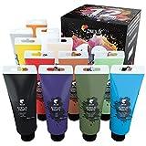 Zenacolor Kit de 12 Tubes de Peintures Acryliques 120ml, 12 Couleurs, Grand Format, Peintures pour Toiles, Bois, Loisirs Créatifs, pour Adultes