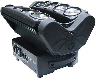 sahadsbv Lumières de scène à tête mobile LED Faisceaux mobiles Lumière stroboscopique rotative par télécommande pour fête...