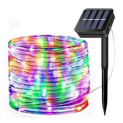 VGY 50/100 Leds Luces de Cuerda de Cuerda con energía Solar Luces de Cadena a Prueba de Agua a Prueba de Hadas a Prueba de Hadas Guirnalda para la decoración del Patio de Navidad