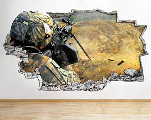 Adhesivo decorativo para pared, diseño de armas de batalla de guerra