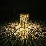 KOKOMALL Farol Solar Exterior de Jardín Colgante,Impermeable Linterna Solar Exterior,Colgar Lámpara de Decoración AtmóSfera Decorativa para Jardín Terraza Camino Porche Camping Arboles Césped Fiesta