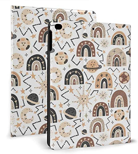 Cute Shapes and Rainbow PU Leather Smart Case Auto Sleep/Wake Feature for IPad Air 1/2 9.7' Case