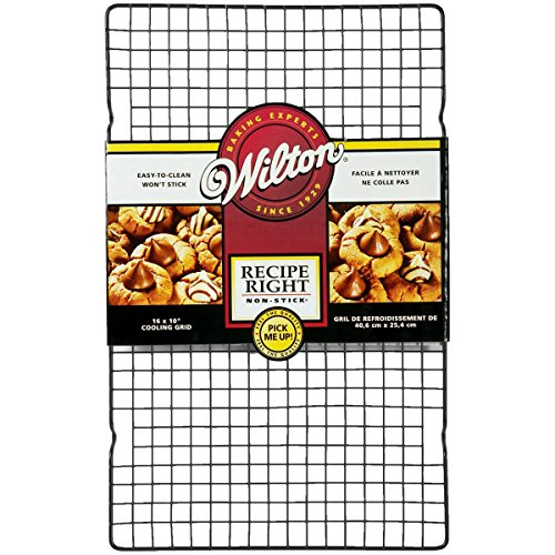 Wilton Recipe Right Rejilla Antiadherente para Enfriar, 40.6 x 25.4 cm, Acero, centimeters