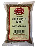 Spicy World Whole Green Peppercorns 4 Oz Bag - Steam Sterilized & All Natural