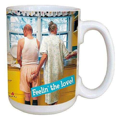 Tree-Free Greetings lm45863Avanti Humor Gefühl der Love Keramik Tasse mit/Griff, 15-Ounce, farbenreiche