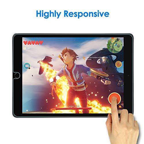 JETech Schutzfolie Kompatibel mit iPad 8/7 (10,2 Zoll, Modell 2020/2019, 8. / 7. Generation), Gehärtetem Glas Displayschutzfolie