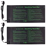AIICIOO Plant Heat Mat - Seed Germination Warming Mat Heating Pad Greenhouse Propagator for Plants Vegetables Herbs Flowers, 10x20 Inches 2 PACK
