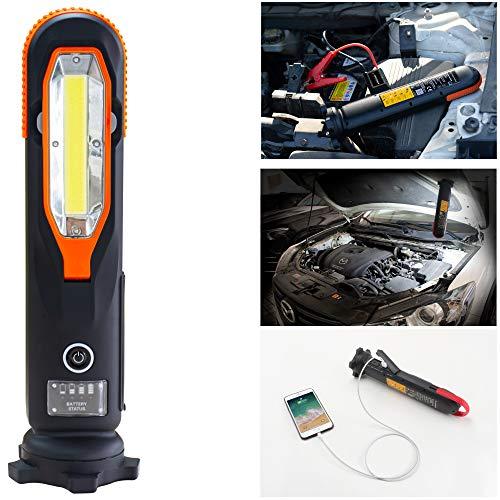 Yard Force Lithium-Autobatterie-Starthilfe-Pack LX JS12 - 12000 mAh mit LED-Taschenlampe, tragbarer Powerbank, Starthilfe für Notfälle, für bis zu 5-Liter-Benzin- und 4-Liter-Dieselmotoren