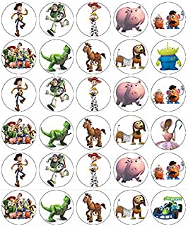 30 Toy Story Cupcake Toppers Edible Wafer Paper Fairy Cake Toppers Birthday Cakes