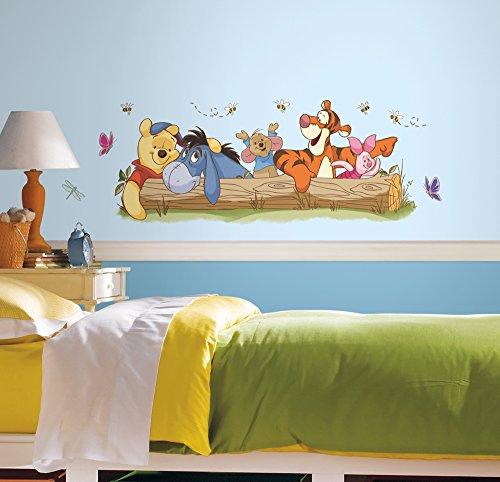 """Room Mates 54541 Riesenwandsticker""""Disney Winnie Puuh - Freizeitspaß"""", mehrfarbig"""