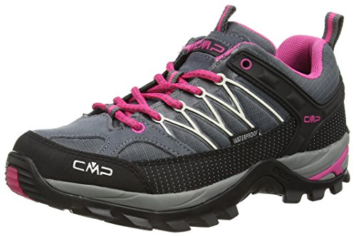 CMP Rigel 3Q54456 Damen Low Trekking Schuhe WP, grau (grey-fuxia-ice 103Q), 38 EU