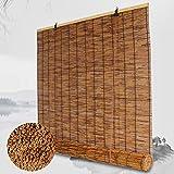 LIUU Tenda a Pacchetto in Bambù per Interni,Tessute a Mano,Tenda Bamboo Avvolgibile,Cortina Di Bambù,Tenda a Lamella per Esterno/Interno,Personalizzabili