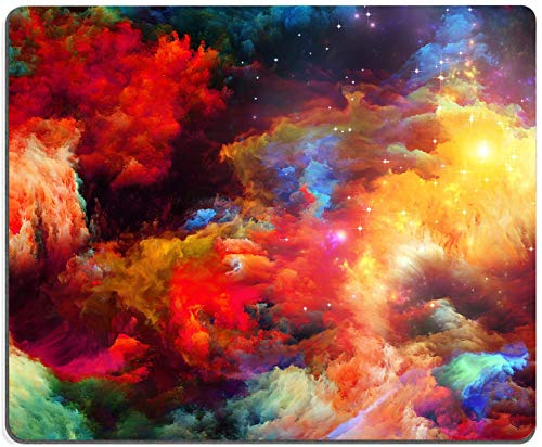 Colorful Galaxy Clouds Mouse Pad,Gaming Non-Slip Rubber Base Mouse Pads for Computers Laptop Office, 9.5'x7.9'x0.12' Inch(240mm x 200mm x 3mm)