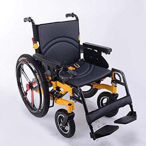 CHAIR Rollstuhl, medizinischer Rehabilitationsstuhl für Senioren, alte Menschen, elektrischer Deluxe-Rollstuhl Faltbarer Elektrorollstuhl Leichtgewichtiger, älterer, behinderter Allrad-Automatik-Inte