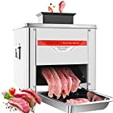 NEWTRY 3.5mm Meat Cutter Cutting Machine Cube Shredded Meat 330LB/H 850W Home and Commercial Electric Stainless Steel Chicken Fish Beef Meat Vegetable Slicer (with a 3.5mm blade)