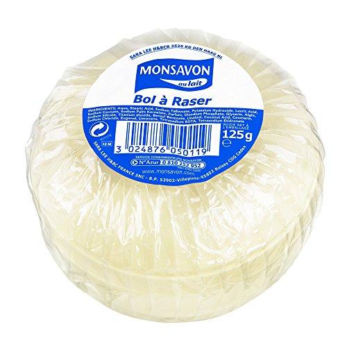 Monsavon Bol à Raser, Pour un rasage traditionnel, Pour tous les types de peaux 125 g