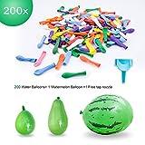 Elegear Wasserballon 200x Wasserbomben mit 1x Groß Wassermelone Bomben und 1x Wasserbomben...